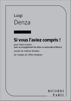 Denza: Si vous l'aviez compris! (mezzo/bar) in D minor