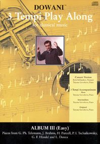 Telemann: Album Vol. III for Trumpet in Bb and Piano