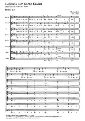 Selle: Hosianna dem Sohne Davids (g-Moll)