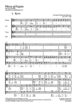 Palestrina: Missa ad fugam