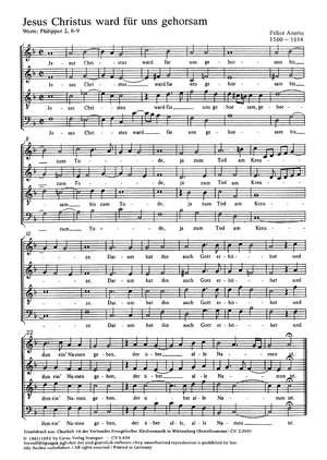 Anerio: Jesus Christus ward; Mendelssohn: Verleih uns Frieden
