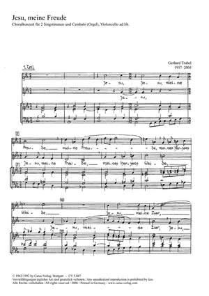 Trubel: Jesu, meine Freude (c-Moll)