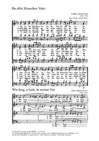 Bach, JS: Du aller Menschen Vater; Gumpelzhaimer: Wie lang, o Gott