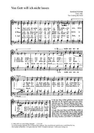 Bach, JS: Was Gott tut; Schröter: Von Gott will ich nicht lassen