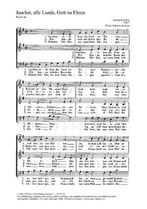 Trubel: Jauchzt, alle Lande, Gott zu Ehren (G-Dur)