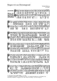 Gumpelzhaimer: Lobet Gott; Praetorius: Singen wir aus Herzensgrund