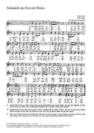 Stier: Aus meines Jammers Tiefe; Laßt uns erfreuen; Lobt Gott; Nun sei uns willkommen; Schmücket das Fest