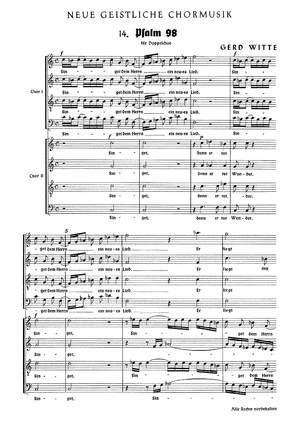 Witte: Singet dem Herrn ein neues Lied (C-Dur)