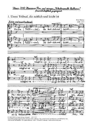 Werner: Drei Paulus-Motetten