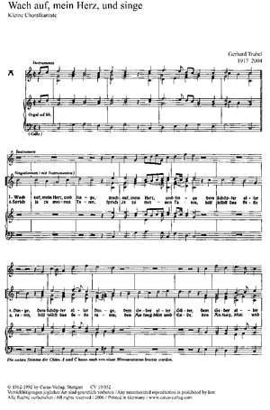 Trubel: Wach auf, mein Herz und singe (C-Dur)