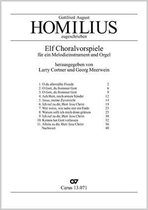Homilius: Elf Choralvorspiele