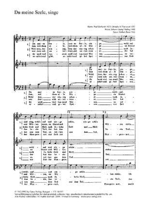 Ebeling: Du, meine Seele, singe (g-Moll)