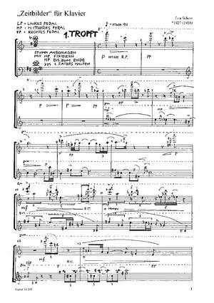 Schorr: Zeitbilder für Klavier (Op.53)
