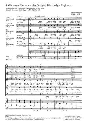 Schütz: Gib unsern Fürsten (SWV 373 (op. 11 no. 5); dorisch)