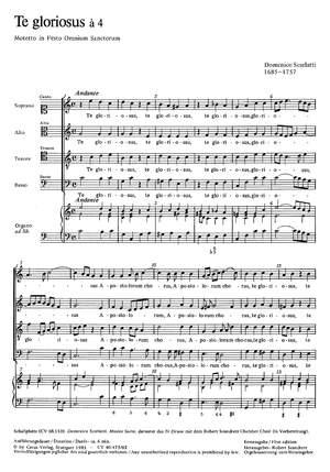 Scarlatti: Te gloriosus (C-Dur)