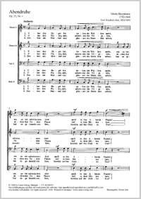 Hauptmann: Abendruhe (Op.55 no. 4; C-Dur)