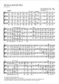 Hauptmann: Du bist ja doch der Herr (Op.42 no. 4; Es-Dur)