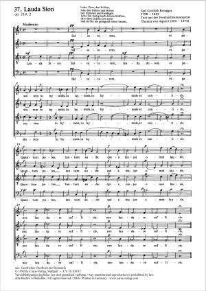 Reissiger: Lauda Sion (Op.210 no. 2; F-Dur)