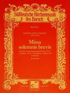 Eberlin: Missa solemnis brevis