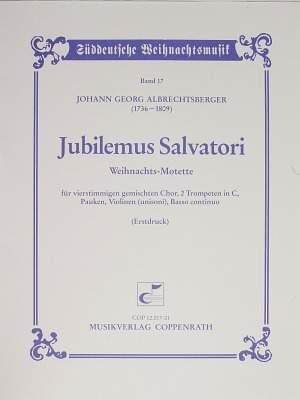 Albrechtsberger: Jubilemus Salvatori (C-Dur)