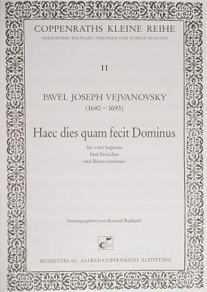 Vejvanovsky: Haec dies quam fecit Dominus