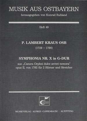 Kraus: Symphonia Nr. X in G-Dur (Op.2; G-Dur)