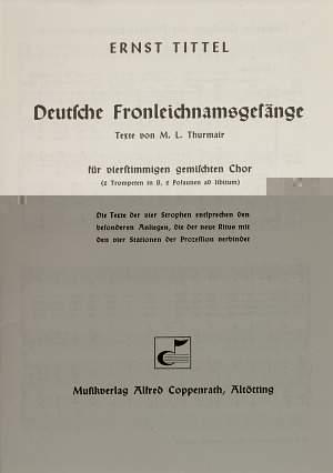 Tittel: Deutsche Fronleichnamsgesänge