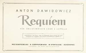 Dawidowicz: Requiem (d-Moll)