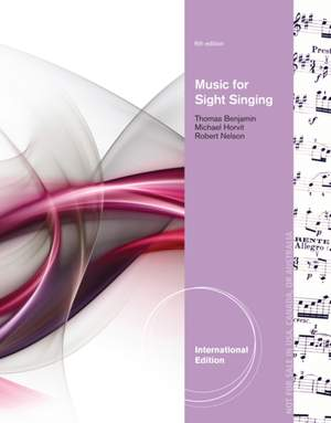 Music for Sight Singing, International Edition