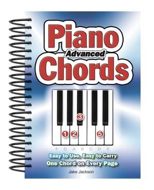 Advanced Piano Chords: Easy to Use, Easy to Carry, One Chord on Every Page Product Image