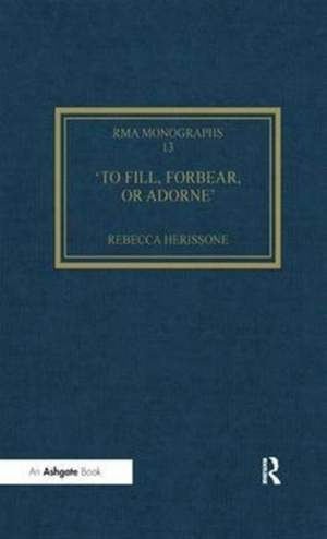 To fill, forbear, or adorne