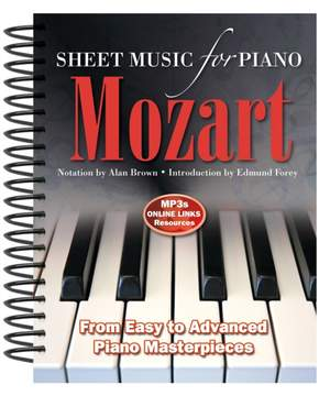 Wolfgang Amadeus Mozart: Sheet Music for Piano: From Easy to Advanced; Over 25 masterpieces Product Image