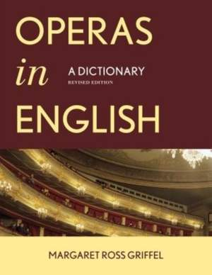 Operas in English: A Dictionary Product Image