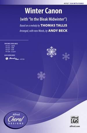 Thomas Tallis: Winter Canon SSA Product Image