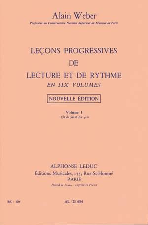 Alain Weber: Leçons Progressives de Lecture et Rythme