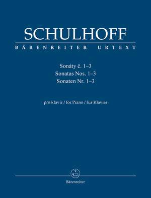 Schulhoff, Erwin: Sonatas for Piano no. 1-3 Product Image