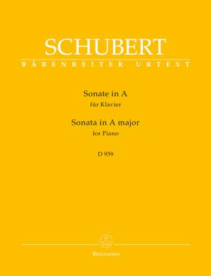 Schubert, Franz: Sonata for Piano A major D 959