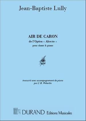 Jean-Baptiste Lully: Air De Caron Cht-Piano