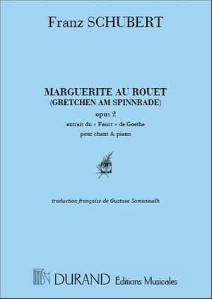 Franz Schubert: Marguerite Au Rouet Mezzo-Piano
