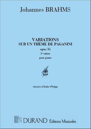 Johannes Brahms: Variations Op 35 Vol 2 (Paganini