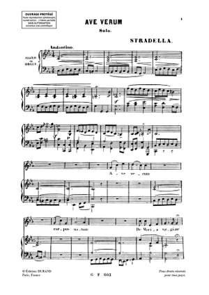 Alessandro Stradella: Ave Verum Chant-Orgue