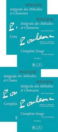 Francis Poulenc: Intégrale des Mélodies et Chansons 4-Volume set