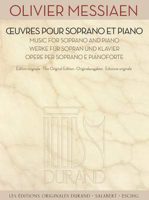 Olivier Messiaen: Oeuvres pour Soprano et Piano Product Image