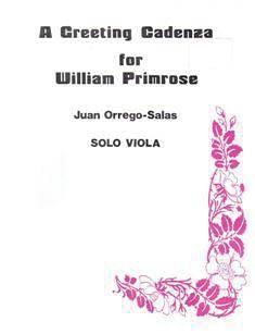 Juan Orrego-Salas: Greeting Cadenza