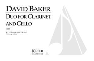 David Baker: Duo for Clarinet and Cello