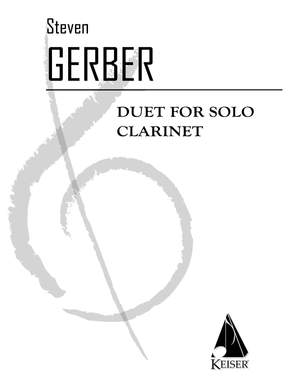 Steven R. Gerber: Duet for Solo Clarinet
