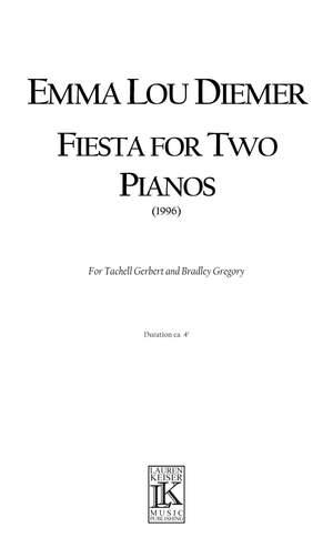 Emma Lou Diemer: Fiesta for Two Pianos