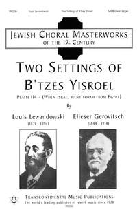 Lewandowski_Gerwitsch: Two Settings Of B'tzes Yisroel
