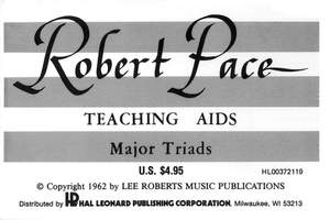 Robert Pace: Flash Cards, Major Triads
