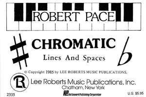 Robert Pace: Flash Cards - Chromatic Lines & Spaces
